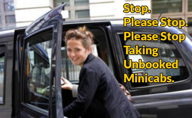 Unbooked-minicab